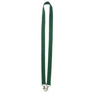 MeetingLinq Dunkelgrünes breites Lanyard mit 2 Haken, 2 cm breit und 90 cm lang