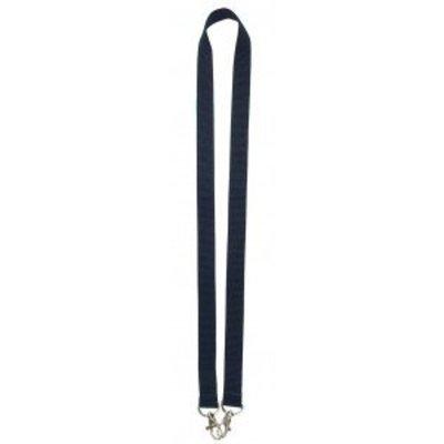 MeetingLinq Marineblaues breites Lanyard mit 2 Haken, 2 cm breit und 90 cm lang