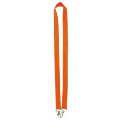 MeetingLinq Oranje brede lanyard met 2 haken. 2 cm breed en 90 cm lang