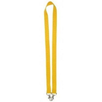 MeetingLinq Gelbes breites Lanyard mit 2 Haken. 2 cm breit und 90 cm lang