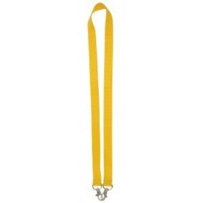 MeetingLinq Yellow wide lanyard with 2 hooks. 2 cm wide and 90 cm long