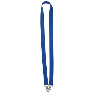 MeetingLinq Wide royal blue lanyard with 2 hooks
