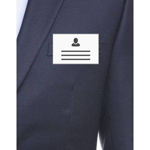MeetingLinq SALE - Badgehouder Creditcard formaat met clip (mat) - inside out