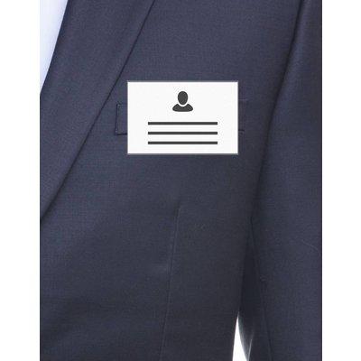 MeetingLinq VERKAUF - Ausweisinhaber Kreditkartenformat mit Clip - Mattes Antireflex - von innen nach außen