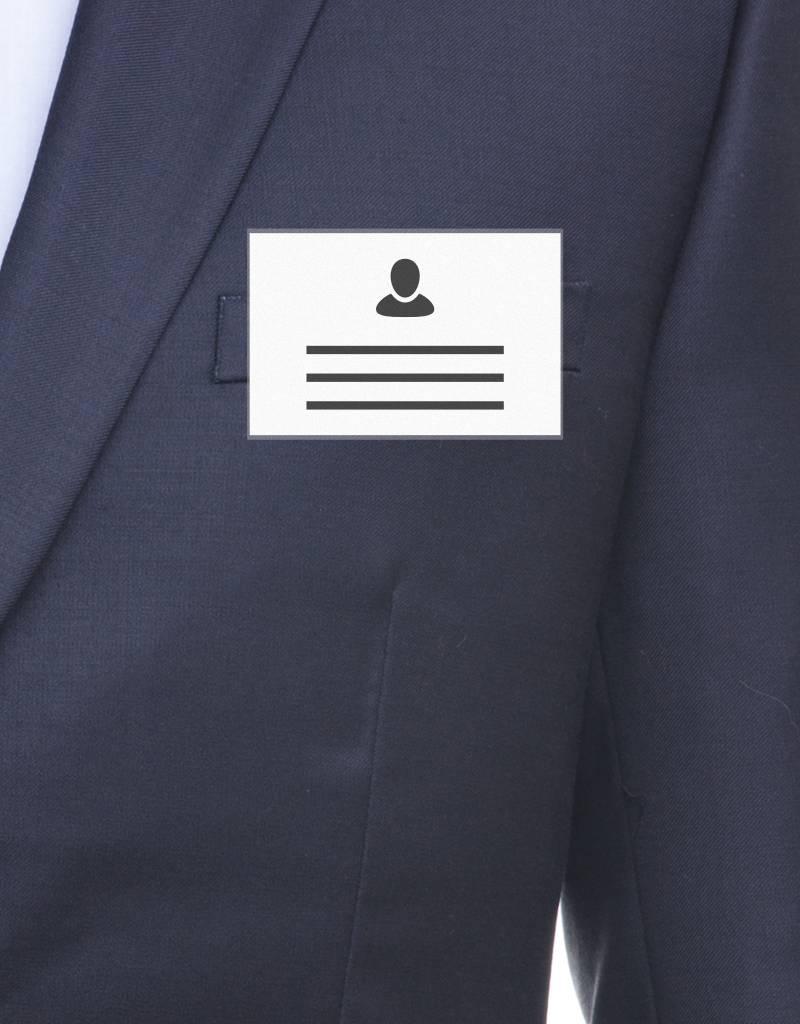 MeetingLinq SALE - Badgehouder Creditcard formaat met clip - Mat ontspiegeld -  inside out