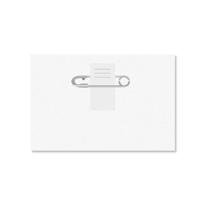 MeetingLinq SALE - Badge holder Credit card format with clip - Matte anti-reflective - inside out