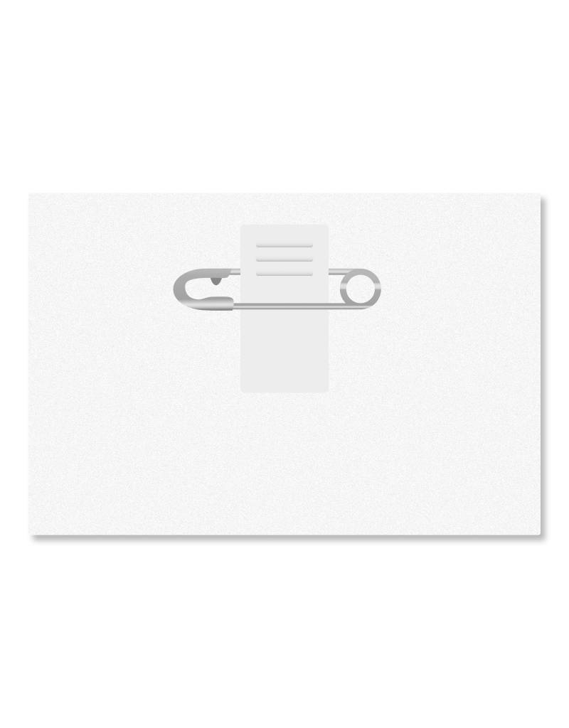 MeetingLinq SALE- Badge holder Credit card format with clip - Matt finish - inside out