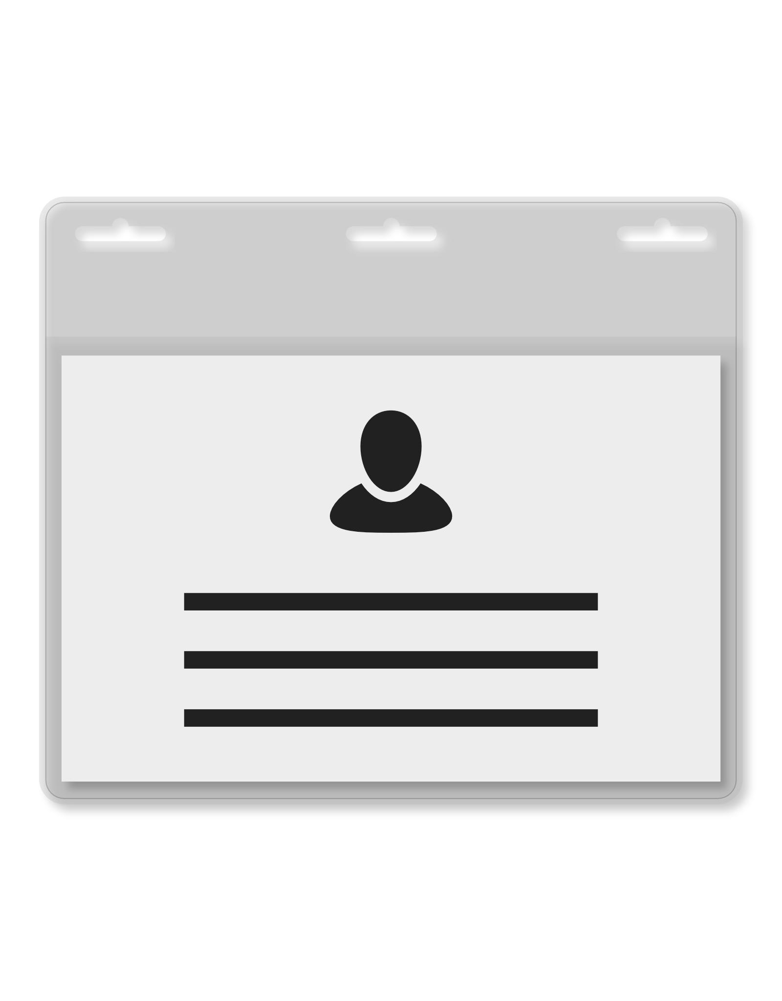 MeetingLinq Din A7 Ausweishülle mit  3 Steckplatze transparent inkl. Badgepapier ab € 0,36 pro Stück