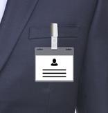 MeetingLinq A7 Badgehouder met 3 sleuven transparant / doorzichtige balk  inclusief gratis papier vanaf € 0,36 per stuk
