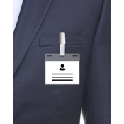 MeetingLinq A7 Badge holder with 3 slots transparent / transparent bar including free paper from € 0.36 each