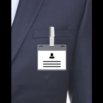 MeetingLinq A7 Ausweishalter mit 3 Steckplätzen transparenter / transparenter Leiste inklusive kostenlosem Papier ab je 0,36 €