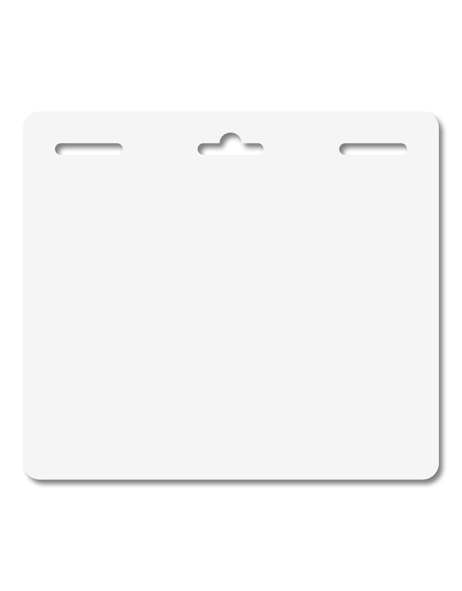 MeetingLinq Butterfly badge plakbadge – Dubbelzijdig, geen folie, Medium, 3  sleuven