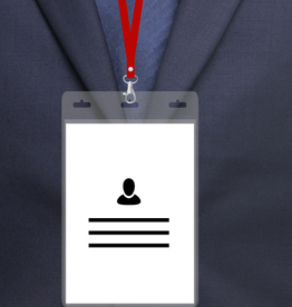 MeetingLinq BIO-D badge holder, A6 format. Certified biodegradable badge holder.