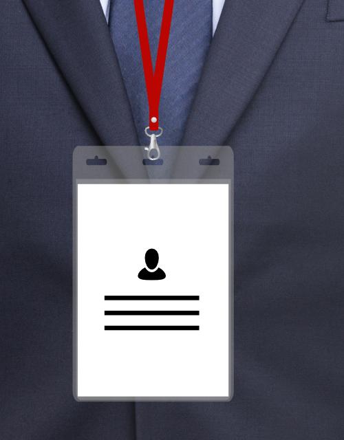 MeetingLinq BIO-D badge holder, A6 format. Certified biodegradable badge holder.