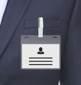 MeetingLinq BIO-D Badge holder, A7 size 3 slots. Certified biodegradable badge holder.
