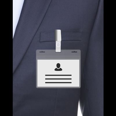 MeetingLinq BIO-D Ausweishalter, A7 Größe 3 Steckplätze. Zertifizierter biologisch abbaubarer Ausweishalter.