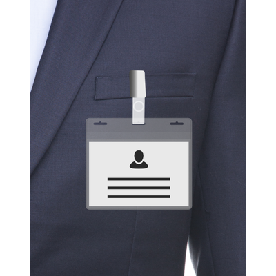 MeetingLinq BIO-D Badge holder, A7 size 3 slots. Certified biodegradable badge holder.