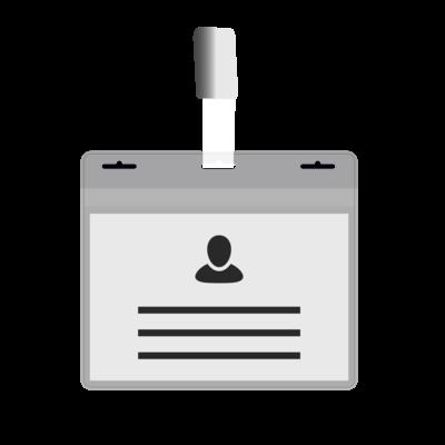 MeetingLinq BIO-D Badgehouder, A7 formaat 3 sleuven.  Gecertificeerde biologisch afbreekbare badgehouder.
