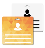 MeetingLinq Butterfly badge plakbadge – Dubbelzijdig, geen folie, Medium, 1  sleuf