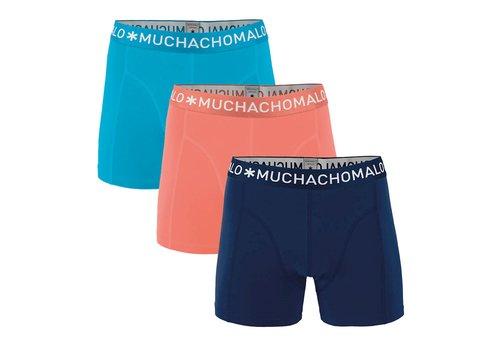 Muchachomalo Muchachomalo SOLID1010-280 3-pack Salmon/ Dark Blue/ Light Blue