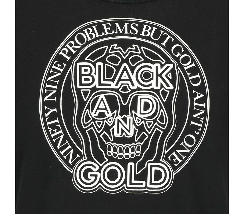 Black and Gold Rotondos Tee Black