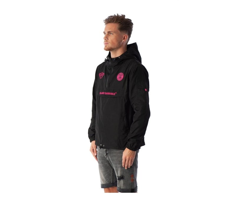 Black Bananas Anorak Windbreaker  Black/Pink