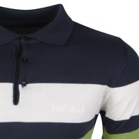 Ferlucci Lucca Polo Navy/ Green/ White