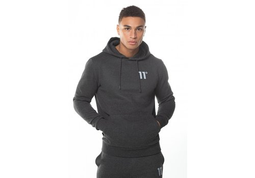 11 Degrees 11 Degrees Core Pull Over Hoodie Anthracite Marl