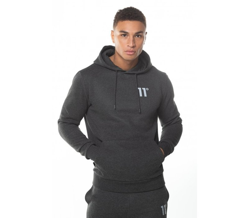 11 Degrees Core Pull Over Hoodie Anthracite Marl