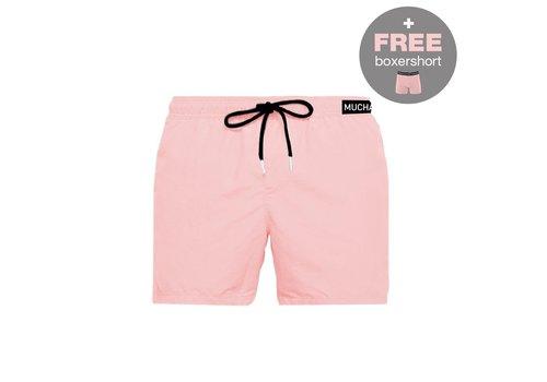 Muchachomalo Muchachomalo Swimshort SOLID2062-O5 Soft Pink