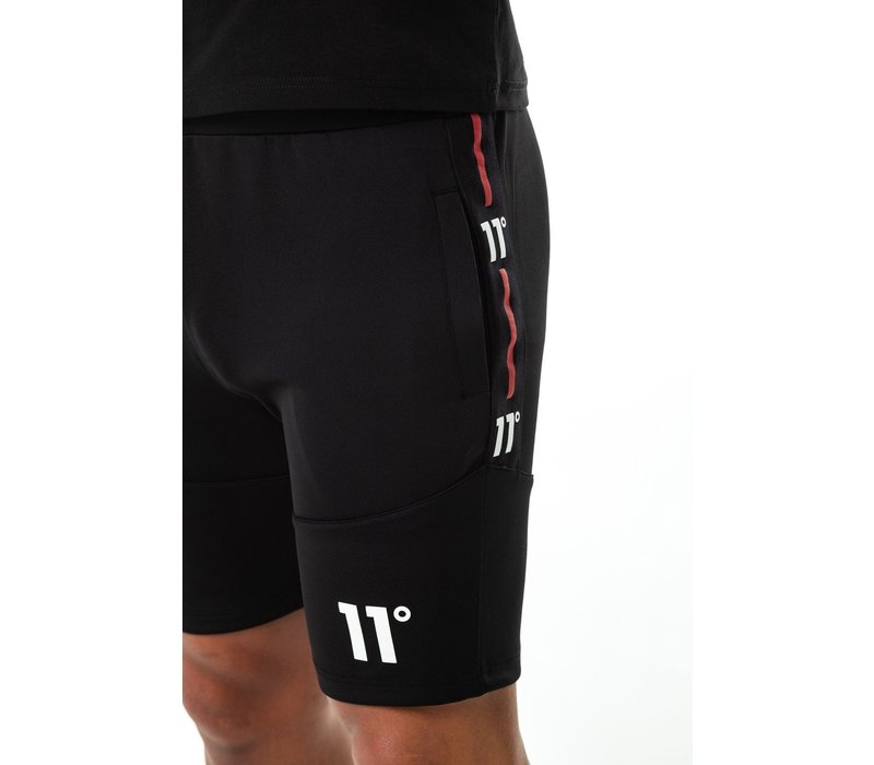 11 Degrees Cut Through Poly Shorts Black