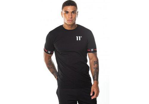 11 Degrees 11 Degrees Cuffed T-shirt Black