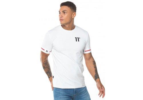 11 Degrees 11 Degrees Cuffed T-shirt White