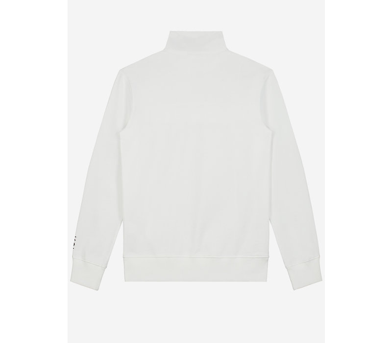 Sustain Reflective Loose Fit Anorak Sweater White