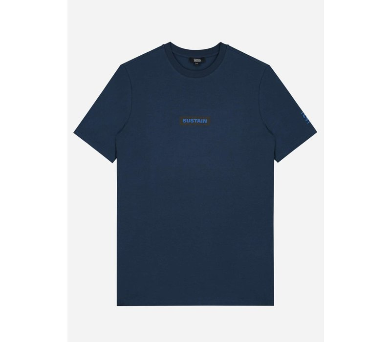 Sustain Boxlogo Regular T-shirt Blue