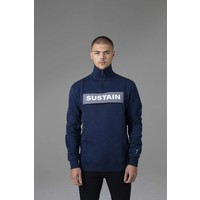 Sustain Reflective Loose Fit Anorak Sweater Blue