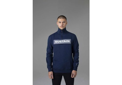 Sustain Sustain Reflective Loose Fit Anorak Sweater Blue