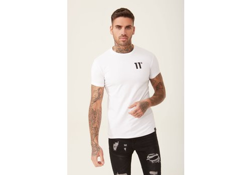 11 Degrees 11 Degrees Core Muscle Fit T-shirt White