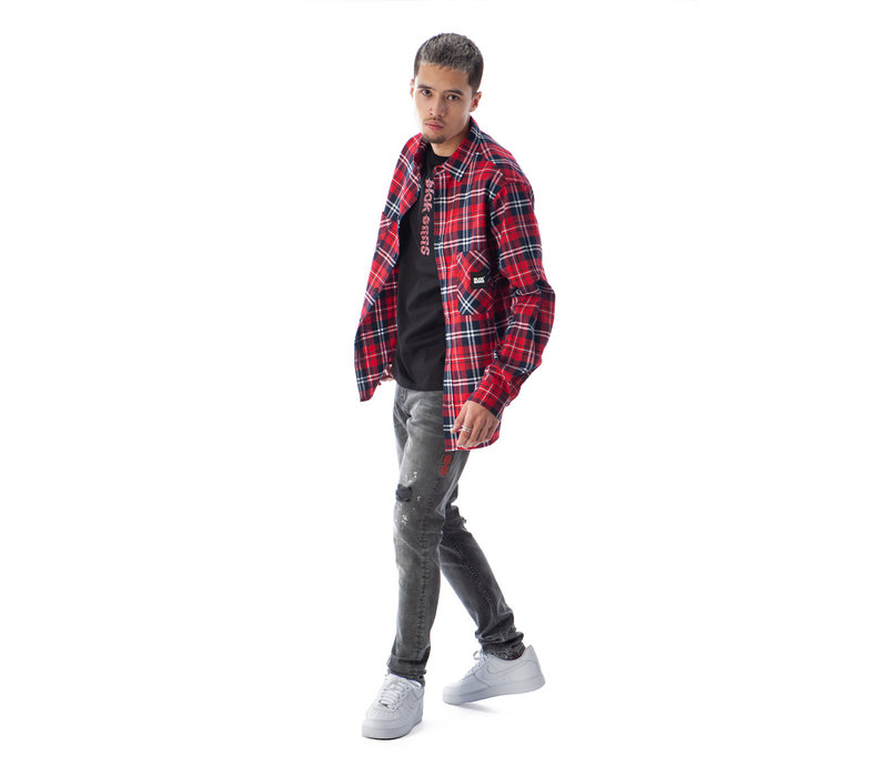 Black Bananas Francis Flannel Red