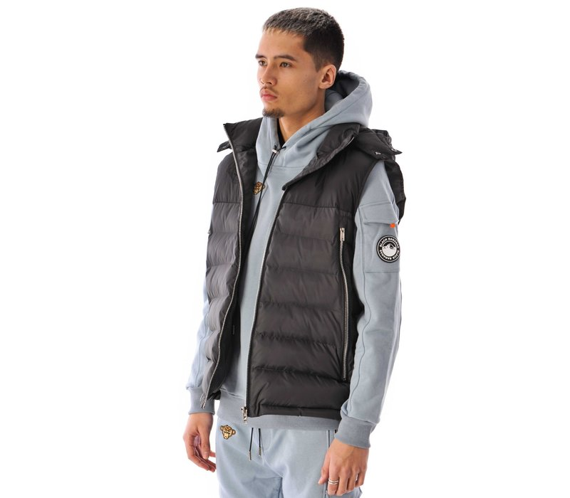 Black Bananas Block Bodywarmer Black