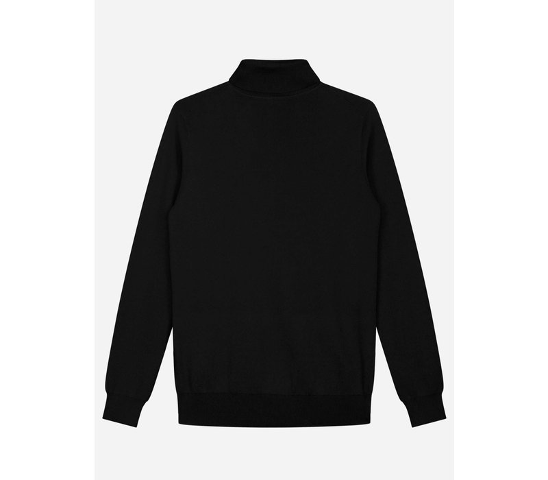 Sustain Knitted Turtle Sweater Black