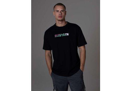 Sustain Sustain Broken Logo Boxy T-Shirt Black