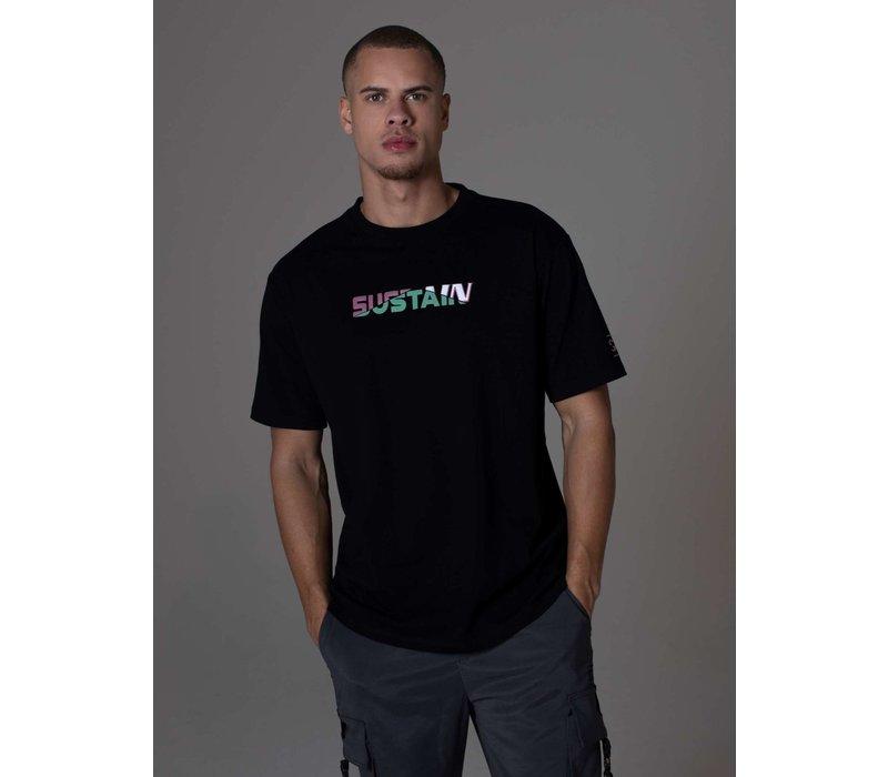 Sustain Broken Logo Boxy T-Shirt Black