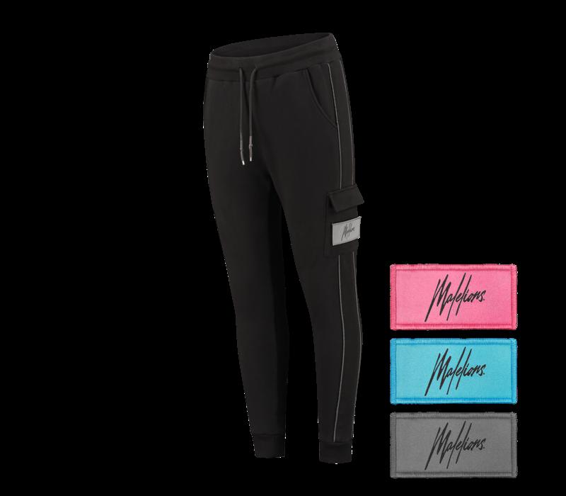 Malelions Velcro Trackpants Black