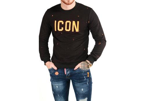 Get Well Jeans Icon Sweater Black/Orange