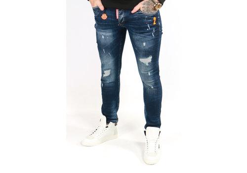 Get Well Jeans Icon 6469 Blue/Orange