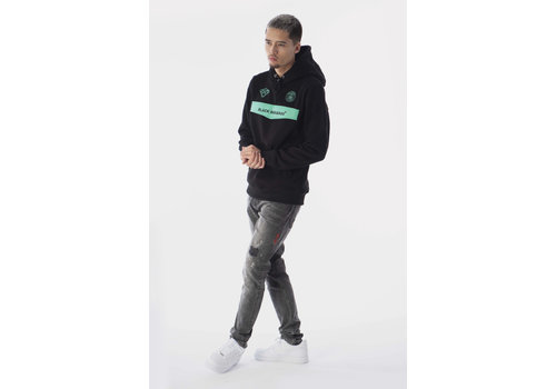 Black Bananas Black Bananas Anorak Neon Hoody Black/ Mint