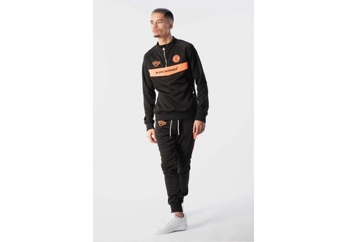 Black Bananas Black Bananas Anorak Neon Tracksuit Black/ Orange
