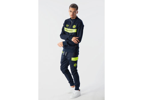 Black Bananas Black Bananas  Anorak Neon Tracksuit Navy/ Yellow