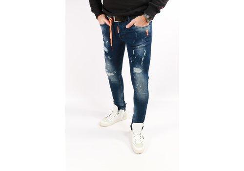 Get Well Jeans Icon 9614 Blue/Orange